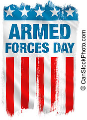 Armed Forces Day USA patriotic design. Clipping path...