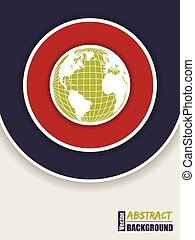 Corporate brochure design in red and green with globe