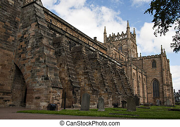 Dunfermline Abbey.The abbey was founded in 1128 by King David I of Scotland.