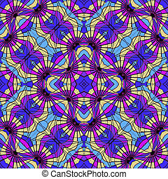 Multicolor Abstract Geometric Seamless Pattern - Digital...