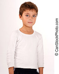 Cute young boy - Portrait of a cute young boy with beautiful...