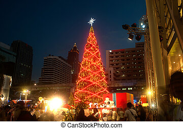 Christmas tree at Centralworld shopping mall in...