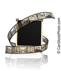 Memories - vintage photoframe with filmstrip
