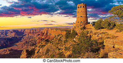 Desert View Point Watchtower - Panorama of the Indian...