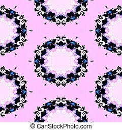 Abstract seamless fractal pattern