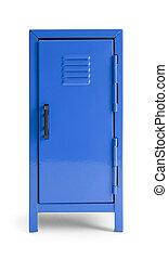 Blue Locker - Blue Metal School Locker Front View Isolated...