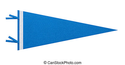 Blue Penant - Felt Penant with Copy Space Isolated on White...