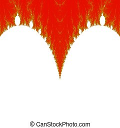 Red gold white fractal background