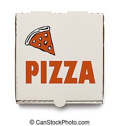 Box of Pizza - Cardboard Pizza Box Isolated on White...