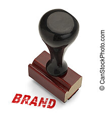Brand Stamper - Brand Stamp in Red Ink With Wooden Handle...