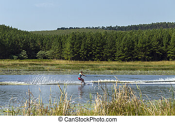 Teenager Water-Skiing