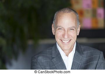 Closeup Of A Senior Man Smiling