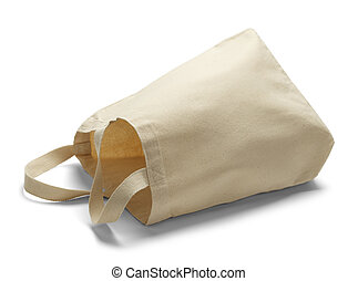 Canvas Bag on Side - Large Canvas Bag With Copy Space on its...