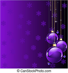Violet colors Christmas and New years place card