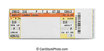 Concert Ticket - Concert Evet Ticket Isolated on White...