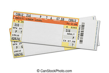 Concert Tickets - Pair of Blank Concert Tickets Isolated on...