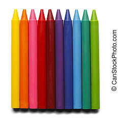 Full Length Crayons - Crayons without paper covering...