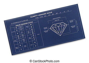 Diamond Grading Chart - Blue Diamond Diagram Chart Isolated...