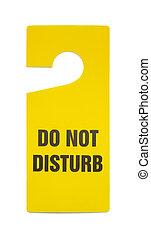 Do Not Disturb Sign - Yellow Plastic Do Not Disturb Sign...