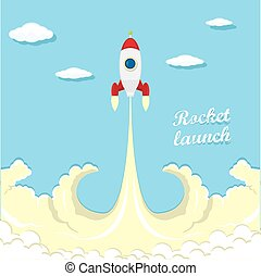 vintage style retro poster of Rocket launcher vector...