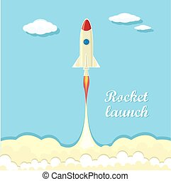 vintage style retro poster of Rocket launcher. vector...