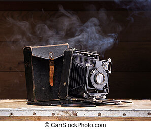 Ancient photo camera