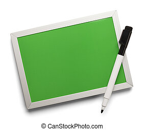 Green Dry Erase Board