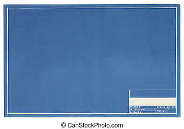 Empty Blueprint - Blank Blueprint Project Page with Copy...