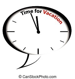 Bubble clock-Time for Vacation, vector