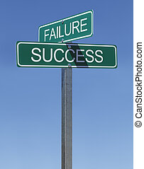Failure Success Sign - Two Green Street Signs Failure and...