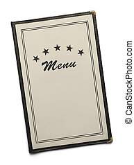 Five Star - Blank Generic Restaurant Menu with Copy Space...