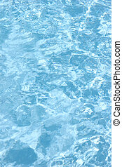 Water background - Rippling water in a pool Bright blue...