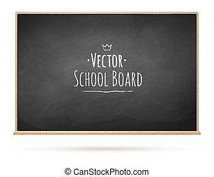 Chalkboard. Vector illustration.