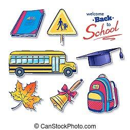 Back to school vector set.