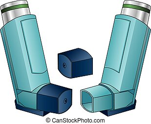 Inhaler is an illustration of an inhaler used by people with...