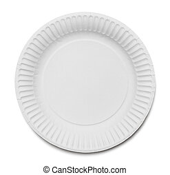 Generic Paper Plate - White Paper Plate Isolated on White...