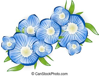 Forget-me-not Flower - Illustration of Spring Forget-me-not...