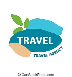 Abstract vector logo for recreation and travel