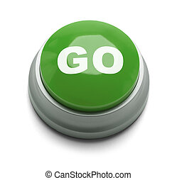 Go Button - Large green button with the word go on it...