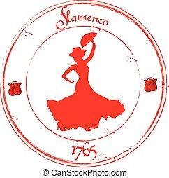 Flamenco - Stamp Famenco