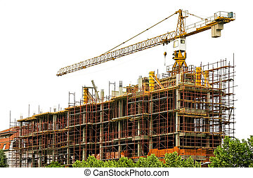 Constructing - Concrete building construction structure with...