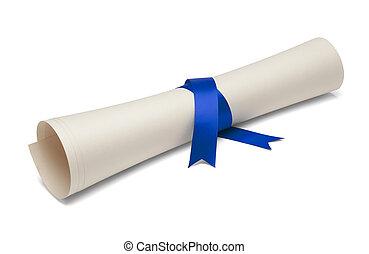 graduado, diploma,