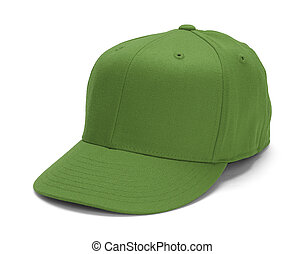 Green Hat - Green Baseball Hat With Copy Space Isolated on...