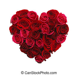 Heart of Roses - Valentines Day Heart Made of Red Roses...