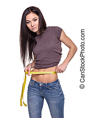 Weight loss concept - Stock Image