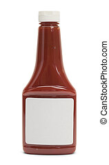 Ketchup Bottle - Front View of Full Ketchup Bottle with Copy...
