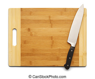 Knife and Board - Bamboo Cutting Board with Kitchen Knife...