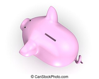 piggy bank - 3d rendered illustration of a pinkm piggy bank