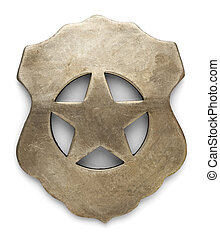 Law Badge - US Sheriff Debuty Marshals Badge Isolated on...