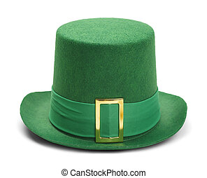 Leprechaun Hat - Green St. Patricks Day Felt Top Hat With...